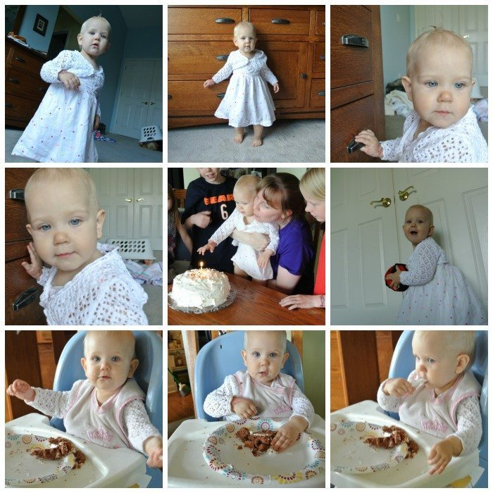 E 1st Birthday Collage